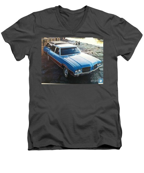 General Motors Posters Men's V-Neck T-Shirt