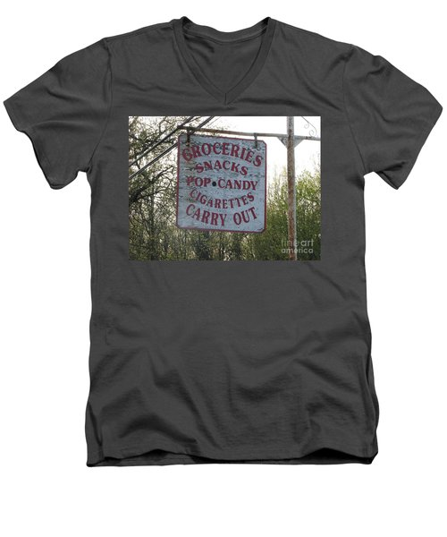 Men's V-Neck T-Shirt featuring the photograph General Store by Michael Krek