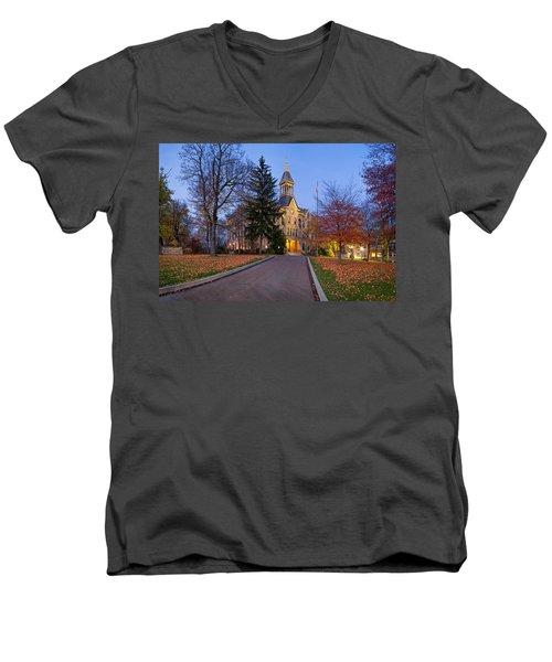 Geneva College Men's V-Neck T-Shirt