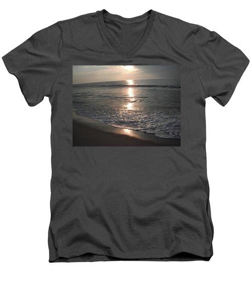 Ocean - Gentle Morning Waves Men's V-Neck T-Shirt by Susan Carella