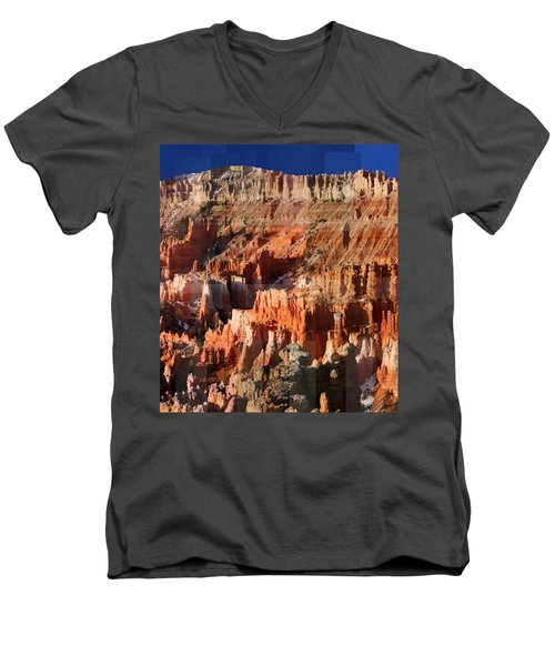 Geology Triptych - Three Men's V-Neck T-Shirt