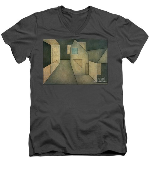 Geometric Abstraction II Men's V-Neck T-Shirt