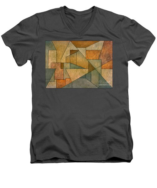 Geometric Abstraction Iv Men's V-Neck T-Shirt