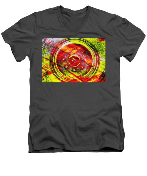 Geometric Colors  Men's V-Neck T-Shirt