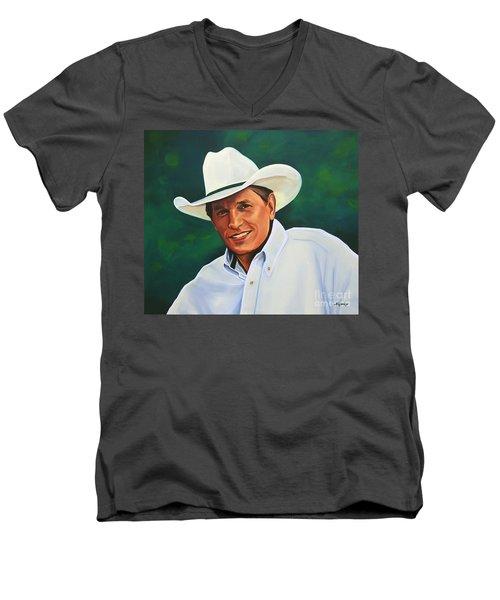George Strait Men's V-Neck T-Shirt