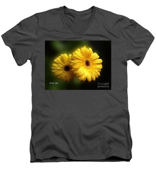 Gerber Babies Men's V-Neck T-Shirt by Becky Lupe