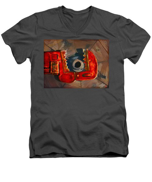 Get A Grip Men's V-Neck T-Shirt