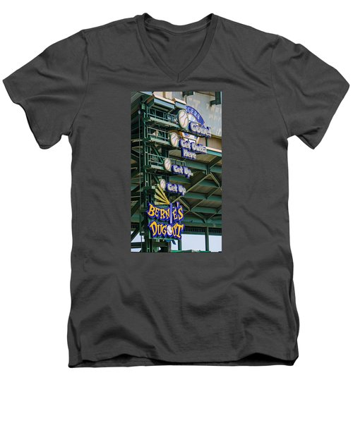 Get Outta Here   Men's V-Neck T-Shirt by Susan  McMenamin
