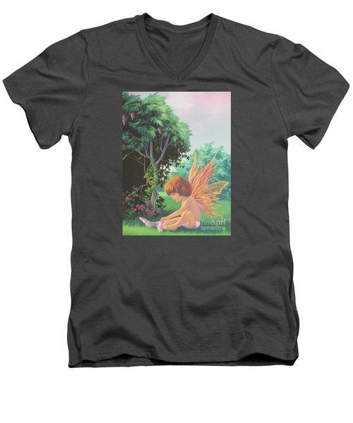 Getting Dressed Men's V-Neck T-Shirt