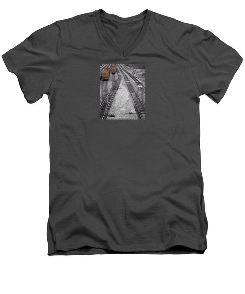 Getting On The Right Track Men's V-Neck T-Shirt