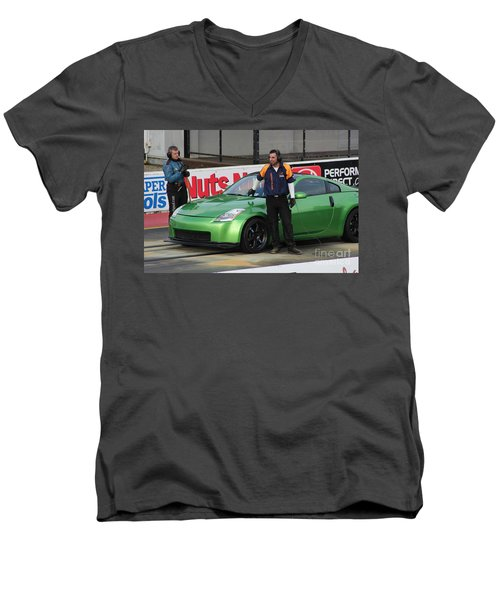 Getting Ready To Race Men's V-Neck T-Shirt