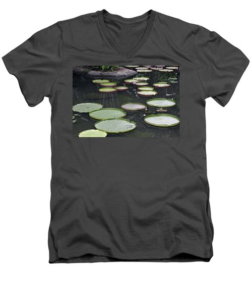 Men's V-Neck T-Shirt featuring the photograph Giant Lily Pads by Shoal Hollingsworth