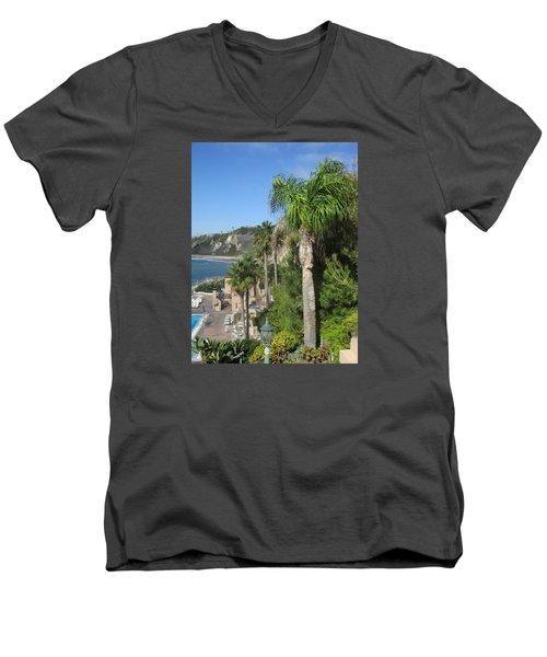 Giant Palm Men's V-Neck T-Shirt by Vivien Rhyan