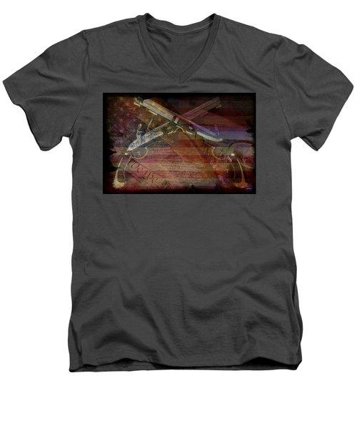 Gimme Back My Bullets Men's V-Neck T-Shirt by Absinthe Art By Michelle LeAnn Scott