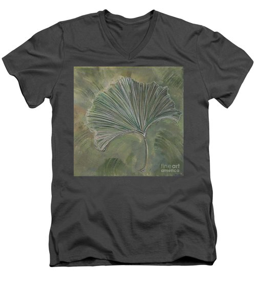 Ginko Leaf Men's V-Neck T-Shirt