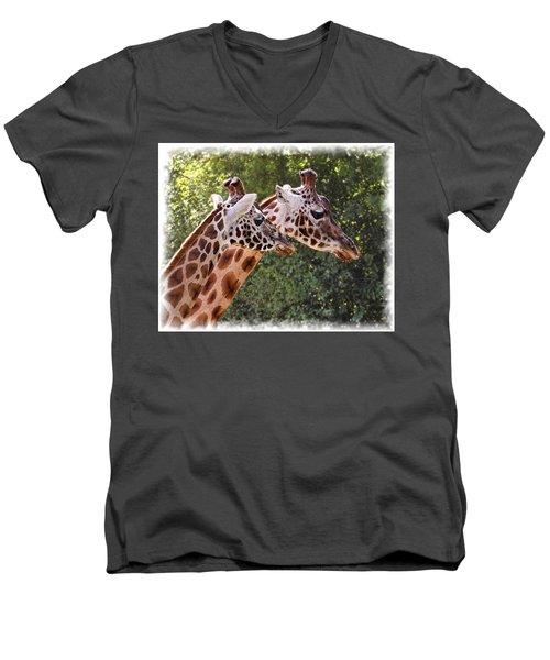 Giraffe 03 Men's V-Neck T-Shirt