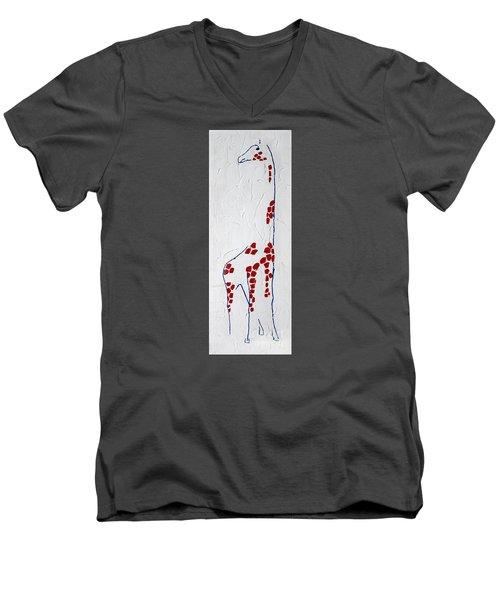 Giraffe Abstract Men's V-Neck T-Shirt
