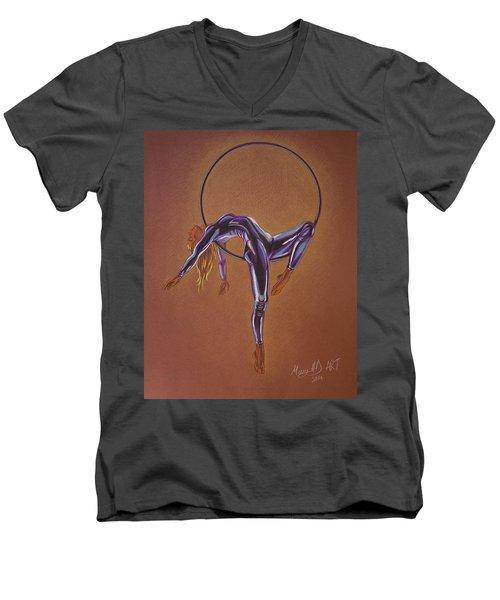 Girl In The Moon Men's V-Neck T-Shirt