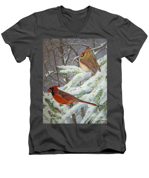 Give Her Wings To Fly Men's V-Neck T-Shirt by Brenda Brown