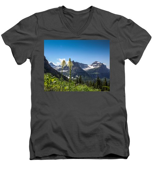 Glacier Grass Men's V-Neck T-Shirt