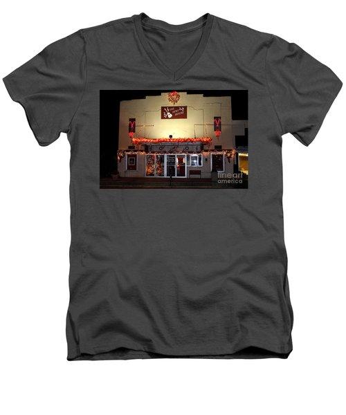 Gladewater Opry House Men's V-Neck T-Shirt by Kathy  White