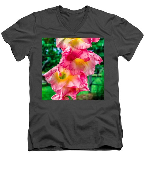Men's V-Neck T-Shirt featuring the photograph Gladiolus by Rob Sellers