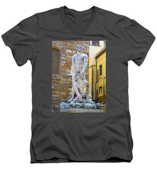 Glance At Hercules And Casus Men's V-Neck T-Shirt by Oleg Zavarzin