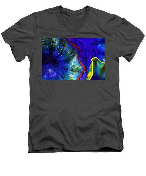 Glass Abstract One Men's V-Neck T-Shirt