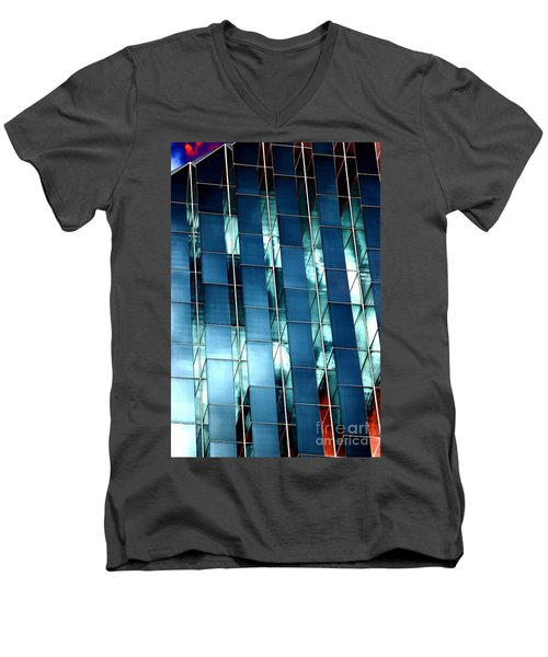 Men's V-Neck T-Shirt featuring the photograph Glass House II by Christiane Hellner-OBrien