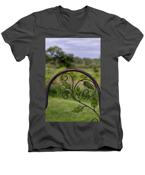 Glass Leaves Men's V-Neck T-Shirt
