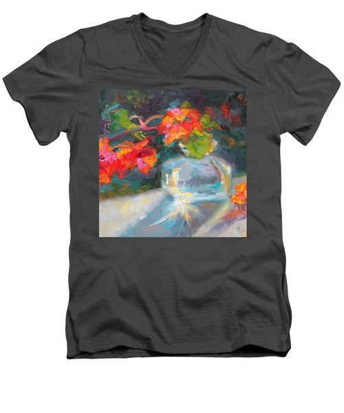 Gleaning Light Nasturtium Still Life Men's V-Neck T-Shirt