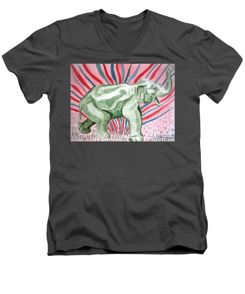 Gleeful Elephant Men's V-Neck T-Shirt