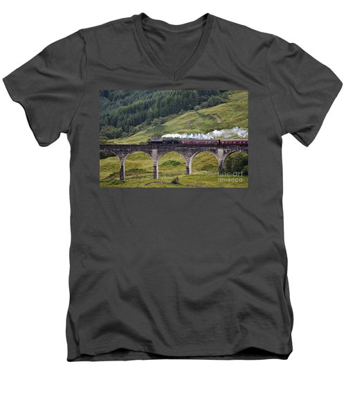 Glenfinnan Viaduct - D002340 Men's V-Neck T-Shirt
