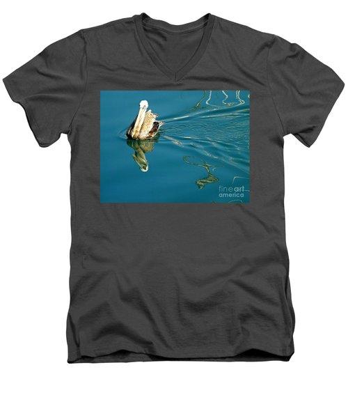 Gliding Men's V-Neck T-Shirt by Clare Bevan