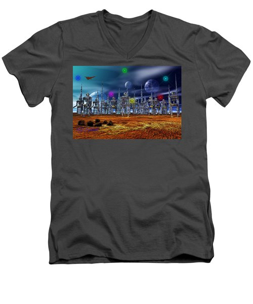 Men's V-Neck T-Shirt featuring the photograph Gloeroxz by Mark Blauhoefer
