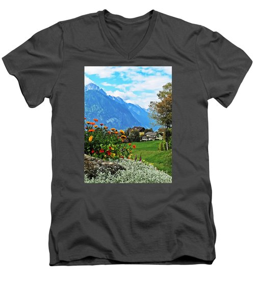 Glorious Alpine Meadow Men's V-Neck T-Shirt