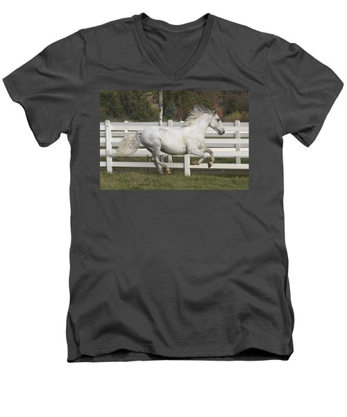 Glorious Gunther Men's V-Neck T-Shirt by Wes and Dotty Weber