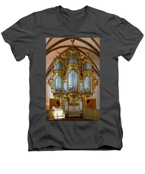 Glorious In Gold Men's V-Neck T-Shirt