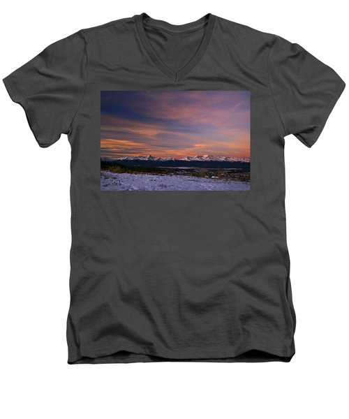 Glow Of Morning Men's V-Neck T-Shirt