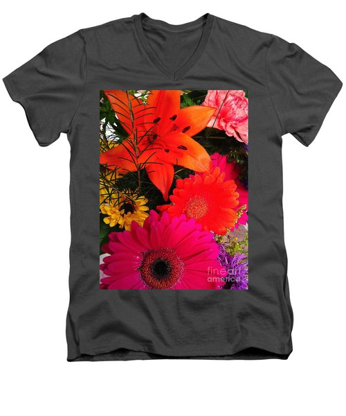 Men's V-Neck T-Shirt featuring the photograph Glowing Bright by Meghan at FireBonnet Art