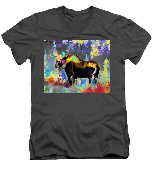Electric Moose Men's V-Neck T-Shirt