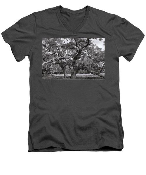 Gnarly Tree  Men's V-Neck T-Shirt