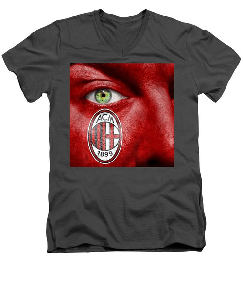 Go Ac Milan Men's V-Neck T-Shirt by Semmick Photo