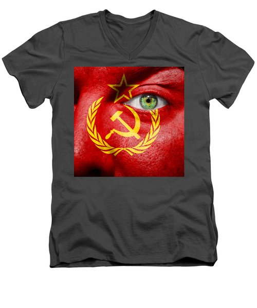 Go Ussr Men's V-Neck T-Shirt