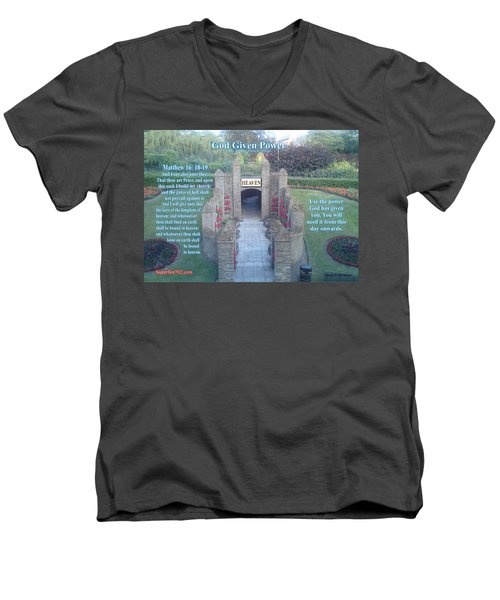 God Given Power Men's V-Neck T-Shirt