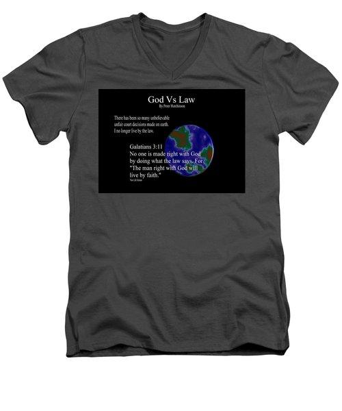God Vs Law Men's V-Neck T-Shirt