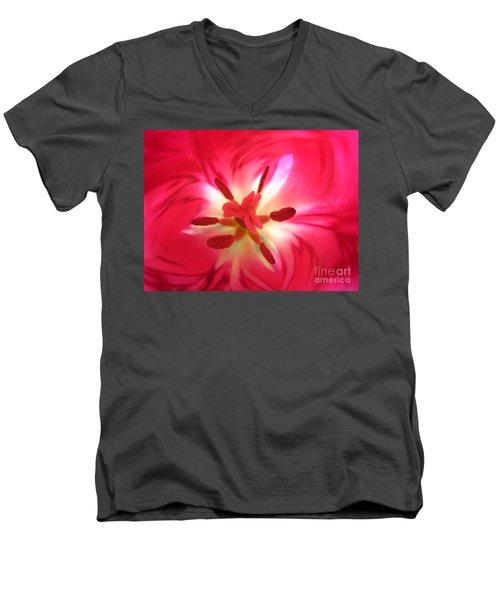 God's Floral Canvas 1 Men's V-Neck T-Shirt