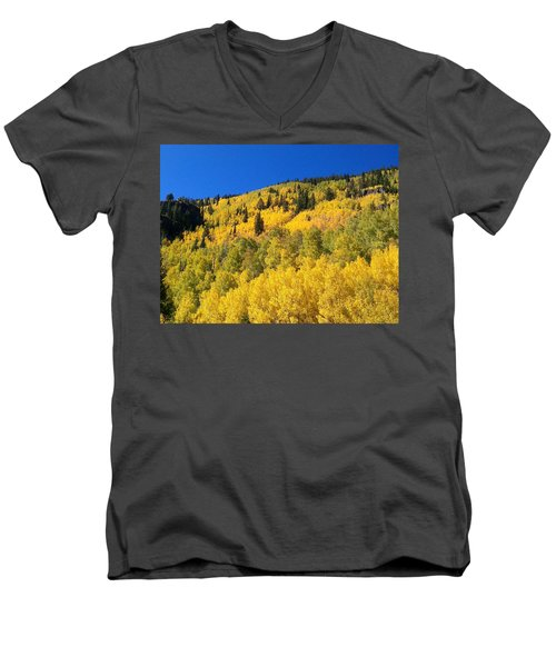 Men's V-Neck T-Shirt featuring the photograph Going Gold by Fortunate Findings Shirley Dickerson