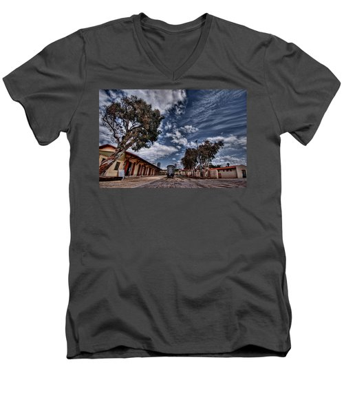 Men's V-Neck T-Shirt featuring the photograph Going To Jerusalem by Ron Shoshani