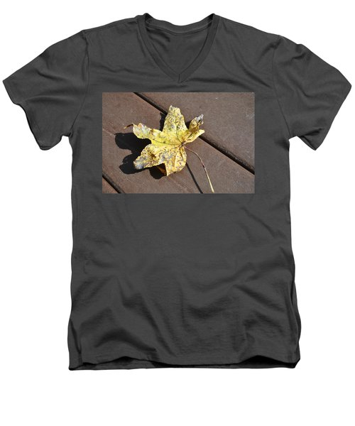 Gold Leaf Men's V-Neck T-Shirt